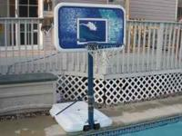 By Lifetime pool side basketball hoop with complete