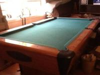 Chicagoan 8ft pool table. This is a typical fullsize