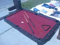 Sportcraft Pool table for sale! No balls. Includes 2