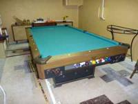 Old Fredrick Willys Wood Top Pool Table Scratched on