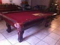 Regulation size pool table in excellent condition call