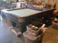 We are looking to sell a legal size pool table. asking