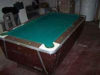 7 foot slate bar pool table Good shape. Coin slot