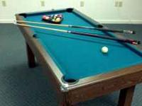 perfect size to play around...3' x 6' pool table, felt