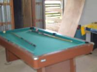 Used pool table for sale contact Gordon or Laverne at