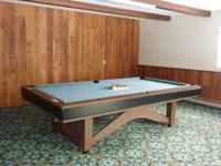 9' pool table with 3-piece 1.5-inch thick granite top.
