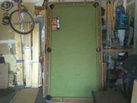 Pool table for sale needs little bit of work but worth