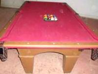 Pool table for sale...cue sticks/balls/rack you pick