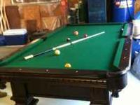 i have an 8ft by 4ft pool table for sale, hardly used