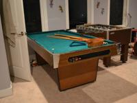 A non regulation size pool table but it is great for