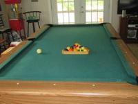 Mizerak 8ft Pool Table in good condition with 3 pool