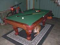 Selling my 7ft Sportscraft pool table. The table is not
