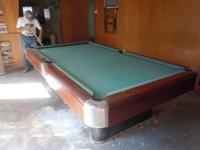 1940's Brunswick regulation pool table. You move it.