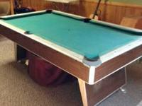 I have a swimming pool table for sale. The surface is