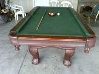 8 ft sportscraft cherry wood pool table only had it for
