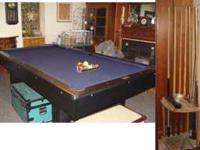 Steepleton Pool Table and accessories for sale.