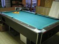 7 foot commercial pool table for sale Solid one piece