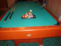 "38"" x 76"" pool table. Phone  after 4:30 on weekdays and"