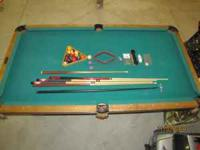 Slate pool table with everything pictured. Good
