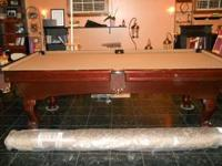 Robertson 8 foot pool table (granite) brown great