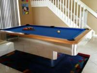 Contemporary pool table 7' originally paid $8000 will