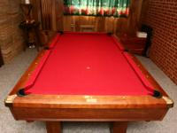 Brunswick Hawthorn pocket billiard table. 7 foot (
