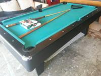 Pool table 7 foot, good felt, nice bumpers with new