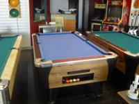 7 ft coin operated Dynamo pool table converted for home