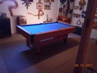 7 ft x 4 ft pool table. Bought from Menard's in 2008.