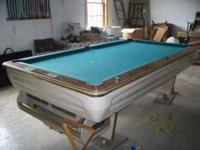 8FT POOL TABLE COIN OPERATED CAME OUT OF A BAR, IN GOOD