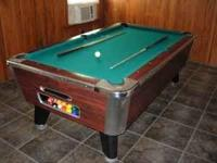 Pool Table 7ft Valley Coin-op. Like new and in