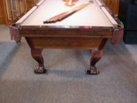 8' maple A M F pool table in great condition. INCLUDES: