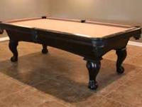 OLHAUSEN, SLATE, 8FT. Pool Table Custom, top of line, 8