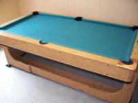 Hi, We have in stock a very nice pool table and air