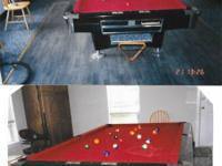 Beautiful Pool Table for sale 64x114 Silver & Black