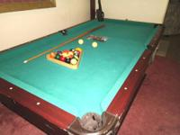 Nice Pool Table, not slate but still will take two