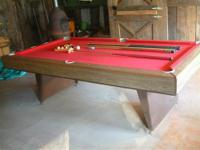 Pool Table made by Sears and Roebuck. Playing surface