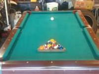 I am selling an older design pool table. It is in