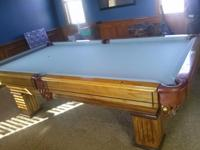 Beautiful Custom 8x5 pool table for sale.
