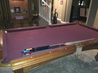 This is a standard pool table made by Winner's Choice.