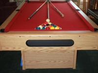 This pool table is in excellent condition and has