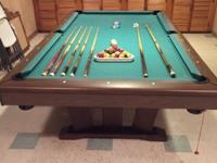 Pool Table $200 includes table and all accessories.