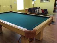 Custom made by Boessling Custom Pool Tables of New
