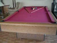 pool table (standard size) pool sticks and light. LEAD