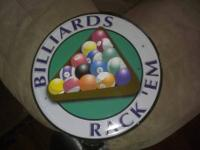 Hello,. I have 2 Pool Table/Bar Signs for sale:.  The