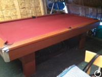 BRUNSWICK CONTENDER POOL TABLE W/PING PONG CONVERSION