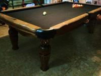 This used Billiards table is a Victorian model by top