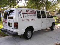 We are a full service billiard moving and repair