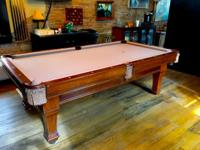 Brunswick 8 ft. regulation size CUSTOM pool table.