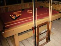 "81""x45"" pool table in good condition. no holes or rips"